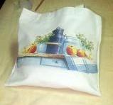 imagen Bolsa decorada con decoupage