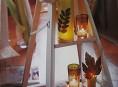 imagen Adornos románticos con velas, reciclando frascos