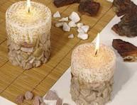 imagen Velas con piedras