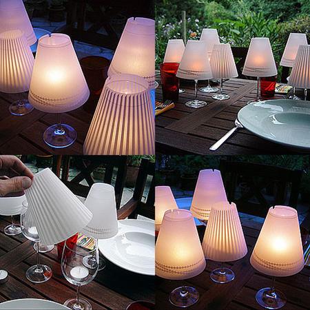 Lámparas con copas de vino para tu mesa 01