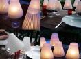 imagen Lámparas con copas de vino para tu mesa