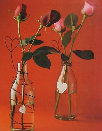 Floreros románticos en pocos segundos