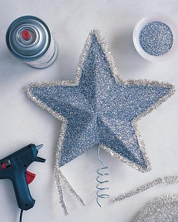 Estrella de navidad fiestas gu a de manualidades - Ideas para decorar estrellas de navidad ...