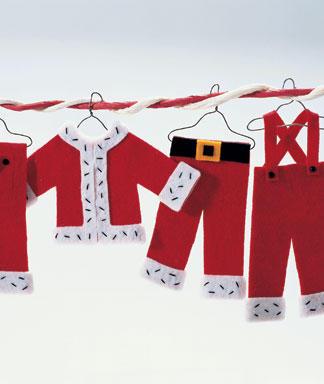 Adornos navideños colgantes de fieltro