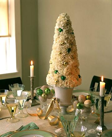 Centro de mesa navideño con flores 1