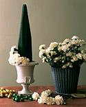 Centro de mesa navideño con flores 4