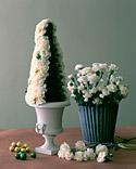 Centro de mesa navideño con flores 5