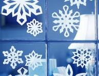 imagen Copos de nieve para decorar las ventanas y espejos