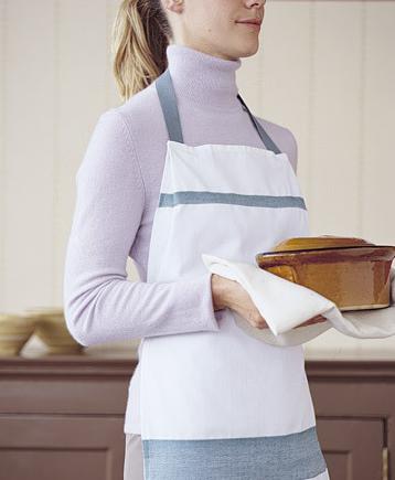 Delantal con paños de cocina