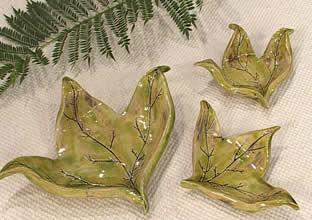Hojas de cerámica para decorar tu hogar