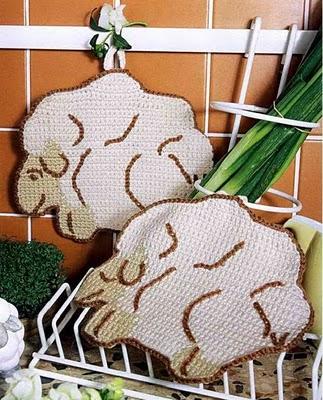 Agarraderas de cocina en crochet 1