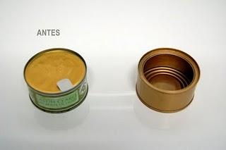 Ana Isabel Bernal Portavelas romántico con latas de atún 02