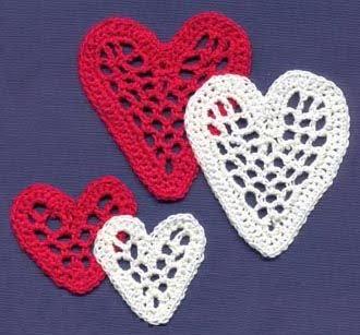 Corazones para decorar a crochet