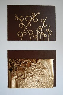 Moderno cuadro con foil 8