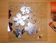 imagen Plato decorado con pan de plata