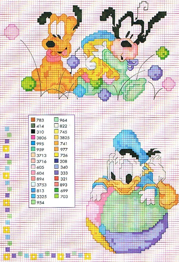 Diseños de Disney para tejer - Punto Cruz - Guía de MANUALIDADES