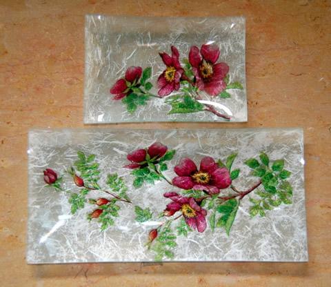 Juego de bandejas con servilleta y papel de arroz 02