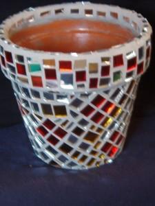 Macetas decoradas con ceramicas 2