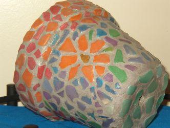 Macetas decoradas con ceramicas 3