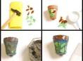 imagen Macetas decoradas con ceramicas
