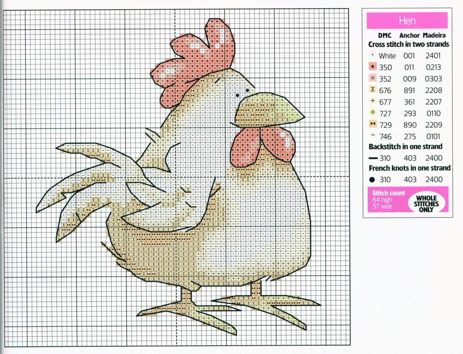 Схема для вышивания петух фото 964