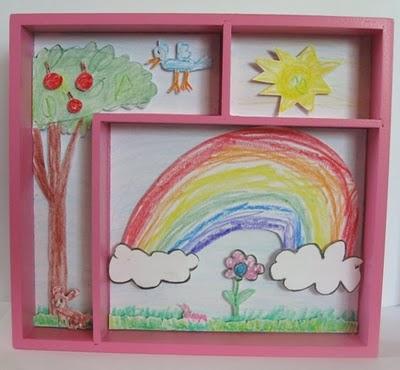 Un cuadro 3D con los dibujos de tus niños1