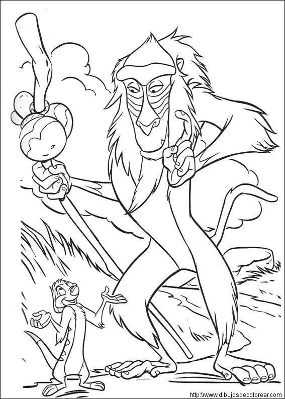 El Rey Leon Para Pintar En Casa Dibujos Guía De Manualidades
