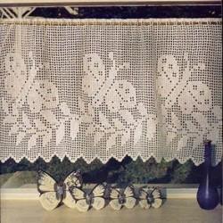 Hermosas cortinas tejidas a crochet1