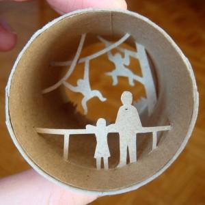 Una original forma de reciclar los rollos de papel higienico19
