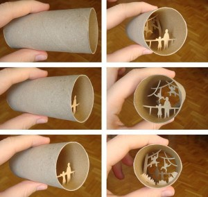 Una original forma de reciclar los rollos de papel higienico20