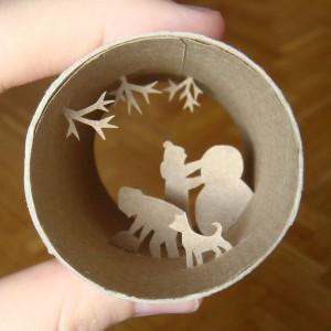 Una original forma de reciclar los rollos de papel higienico22