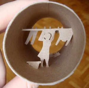 Una original forma de reciclar los rollos de papel higienico25