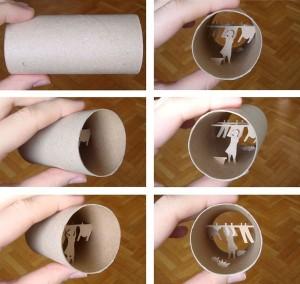 Una original forma de reciclar los rollos de papel higienico