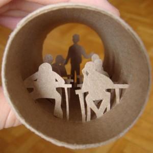 Una original forma de reciclar los rollos de papel higienico28