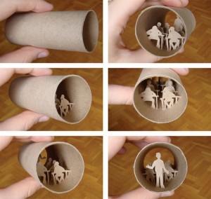 Una original forma de reciclar los rollos de papel higienico29