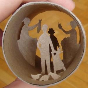 Una original forma de reciclar los rollos de papel higienico31
