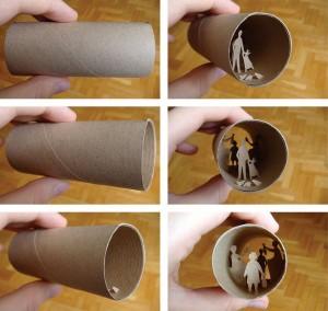 Una original forma de reciclar los rollos de papel higienico32
