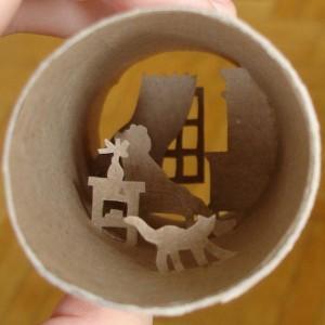 Una original forma de reciclar los rollos de papel higienico34