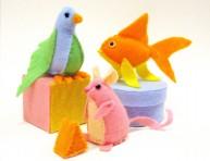 imagen Animalitos de fieltro para tus hijos