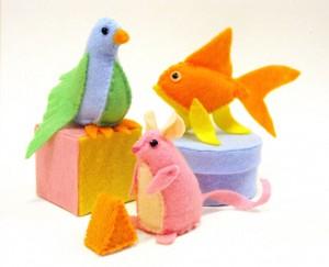 Animalitos de fieltro para tus hijos