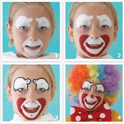 Disfraces maquillaje de payasito2