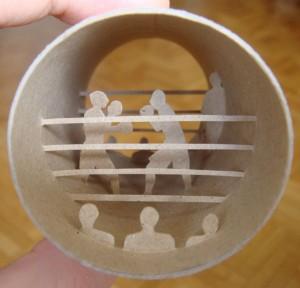 Una original forma de reciclar los rollos de papel higienico01