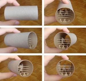 Una original forma de reciclar los rollos de papel higienico02