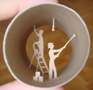 Una original forma de reciclar los rollos de papel higienico04