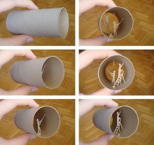 Una original forma de reciclar los rollos de papel higienico05