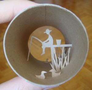 Una original forma de reciclar los rollos de papel higienico07