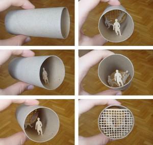 Una original forma de reciclar los rollos de papel higienico11