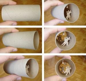 Una original forma de reciclar los rollos de papel higienico14