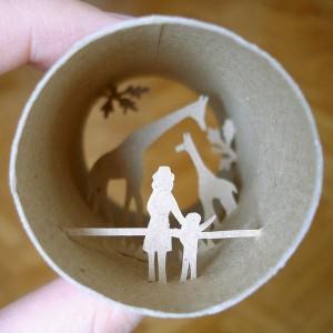 Una original forma de reciclar los rollos de papel higienico16