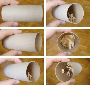 Una original forma de reciclar los rollos de papel higienico17